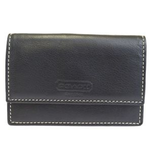 COACH Leather Business/Credit Card Holder Wallet
